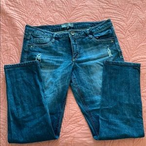 Size 12 Wit&Wisdom ripped straight cut Jean